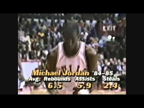 Sidney Moncrief (defense on Jordan) vs Bulls, 1985 EC 1st Round game4, highlights