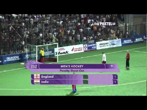 Mens Field Hockey India vs. England 2010 Common Wealth Games 2nd Semi-final Part 8