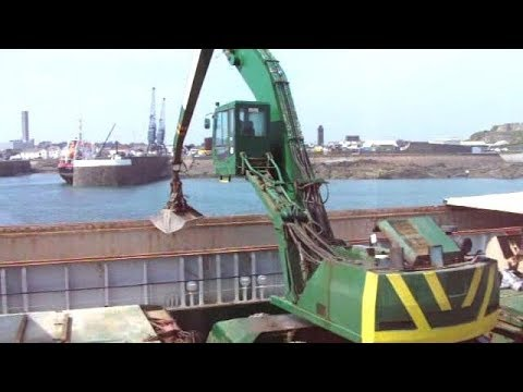 Lagan Unloading Aggregate From Ships at St. Sampsons Harbour, Guernsey