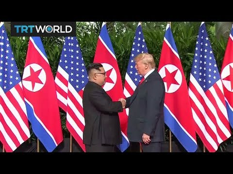 Trump and Kim meet in Singapore