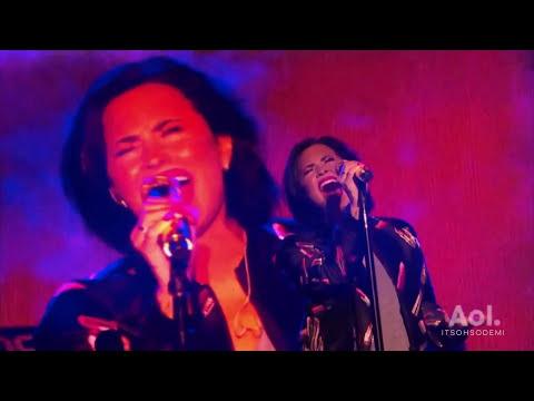Demi Lovato - Stone Cold LIVE (AOL Access in NYC)