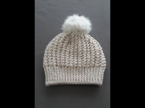 Comment tricoter un bonnet / bonnet avec deux aiguilles