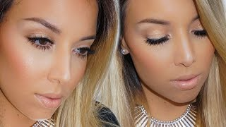 neutral glam makeup tutorial