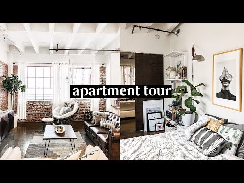 APARTMENT TOUR 2018 - Downtown Los Angeles Brick Loft // Imdrewscott