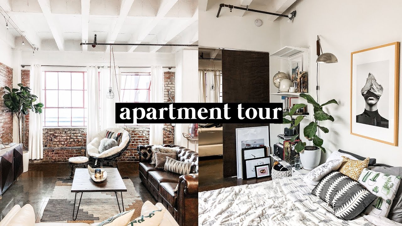 APARTMENT TOUR 2018 - Downtown Los Angeles Brick Loft // Imdrewscott
