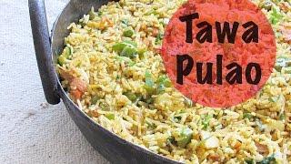 Tawa Pulao Recipe - Mumbai Style Tawa Pulao - Tava Pulav - Easy Indian Rice Recipes | Nisa Homey