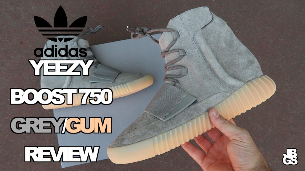 Adidas Yeezy Impulso 750 Grey + / Gomma Sotto Revisione + Grey In Piedi!!!Su Youtube 9b921d