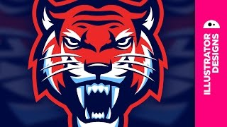 Sports Tiger Logo // Adobe Illustrator
