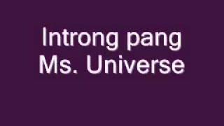 Introng pang Ms. Universe