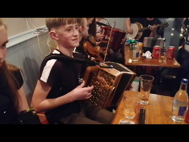 The Musicians at the December monthly Music session at Parker's Pub,, Kilflynn performing Fairytale