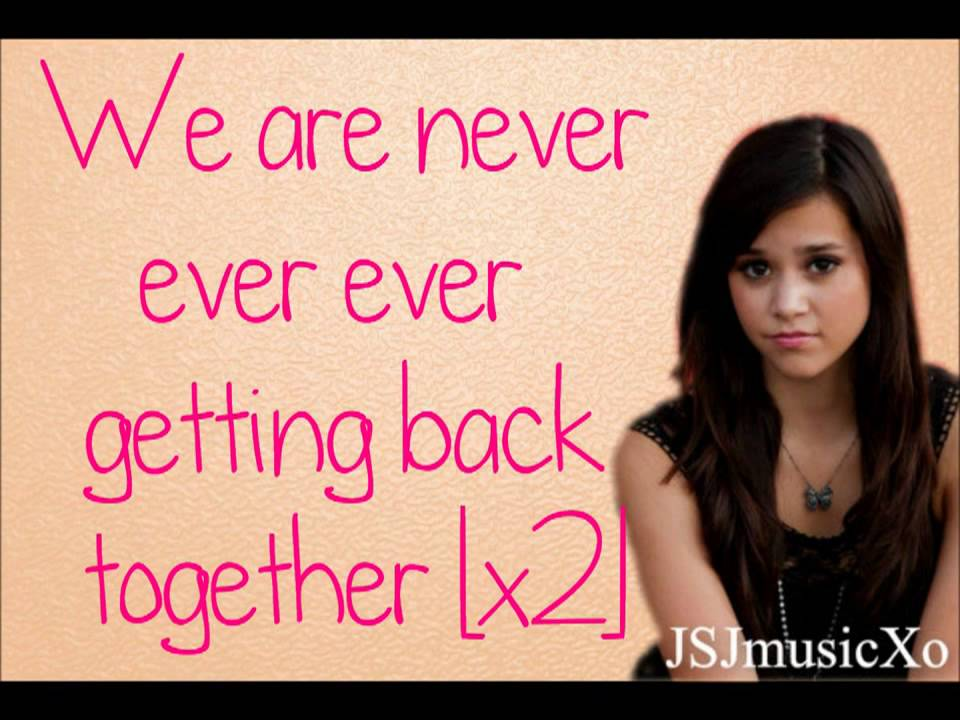 We are never ever getting back together Lyrics- By Megan Nicole ...