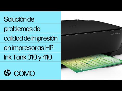 Solución de problemas de calidad de impresión en impresoras HP Ink Tank 310 y 410 | @HPSupport