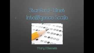 Stanford Binet Intelligence Scale