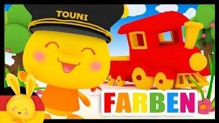 Deutsch lernen - FARBEN - Kinderlieder - Titounis - Learn colors in german - 45min