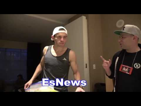Julio Cesar Chaevz Jr Eating After Weigh In Back In His Hotel Suite EsNews Boxing