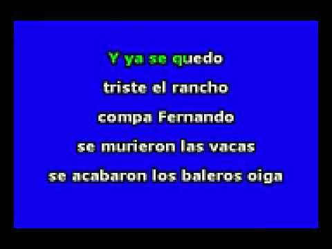 el tarasco   la arrolladora karaoke para tda la gente ue le gusta los corridos