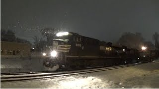 norfolk southern 153 wb manifest in the snow mabletonga 12 08 2017©