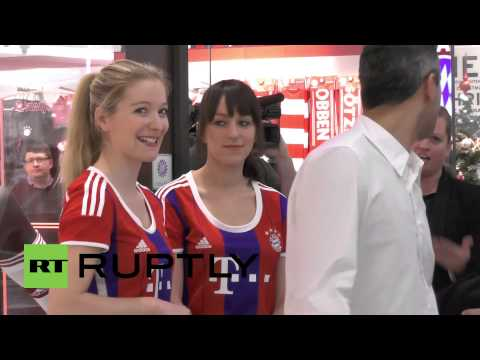 Germany: Bayern Munich stars attend grand opening of Berlin store