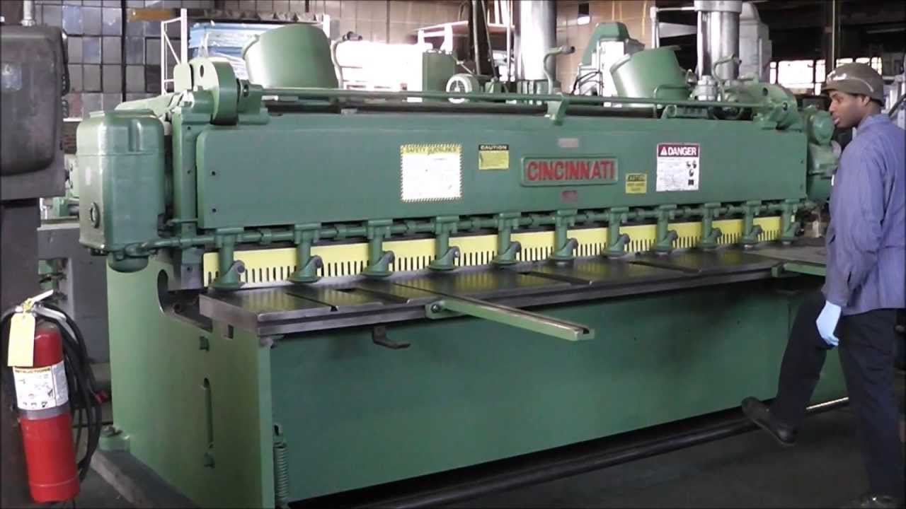 Cincinnati 10 X 1 4 Quot Power Squaring Shear Youtube
