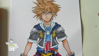 How to draw Sora from Kingdom Hearts 2: Part 2 Coloring with copic markers ソラ)