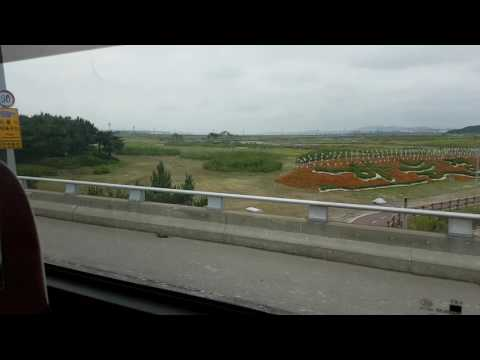 Arriving to Incheon Int'l Airport by bus (not a guide) (1080p 60fps)