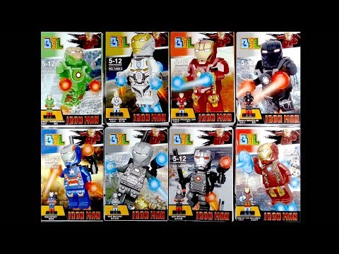 LEGO Super Heroes Marvel Iron Man Minifigures (knock-off)