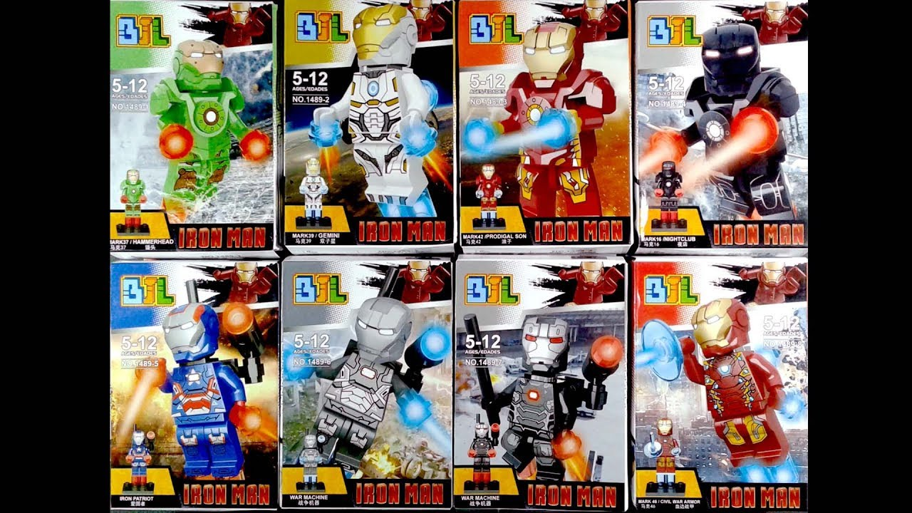 Lego Super Heroes Marvel Iron Man Minifigures Knock Off