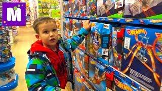 VLOG Шопинг в магазине игрушек покупаем Хот Виллс и Нерф