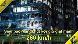 Siêu bão Mangkhut với gió giật mạnh 260 km/h đã phá hủy miền Bắc Philippines