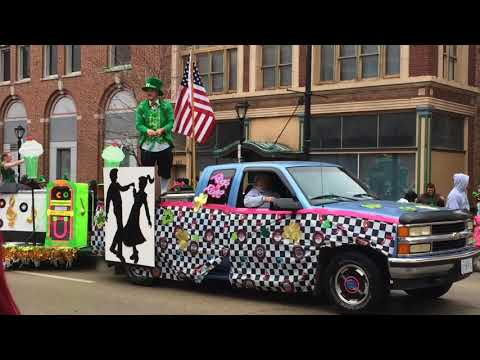 The 2018 St Patrick's Day Parade in Springfield, Illinois
