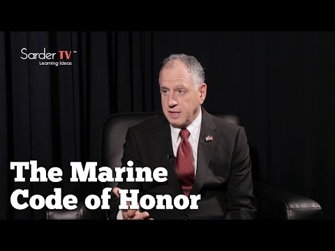 What is the importance of the Marine Code of Honor? By Ken Marlin, Author