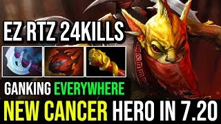 New Cancer Hero in 7.20 - Epic Pro Mid Ganking Bounty Hunter Delete RTZ LS 24KIlls Fun Game Dota 2