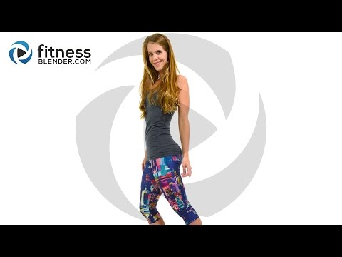 Butt and Thigh Workout with Fat Burning HIIT Cardio At Home - Legs On Fire!