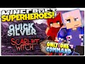 Minecraft | QUICKSILVER & SCARLET WITCH | How To Be A Superhero! | Only One Command