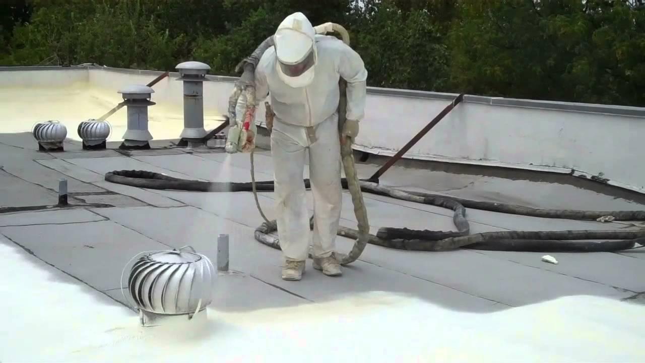 Polyurethane Foam Roof With Reflective Epoxy Coating Super