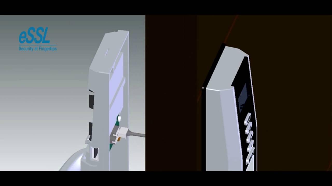 eSSL Fingerprint Lock L5000 installation video