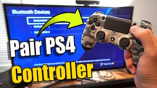 How to PAIR your NEW PS4 Controller to your Playstation (2 Methods)