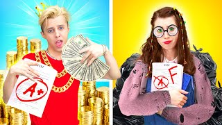 GIRLS vs BOYS || NORMAL Student vs RICH STUDENT | When your Life is UNFAIR by La La Life Musical