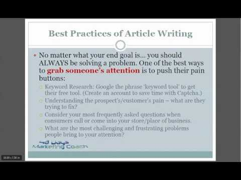 How to Write Articles and Blog Posts for the Web, Writing for the Web Made Easy