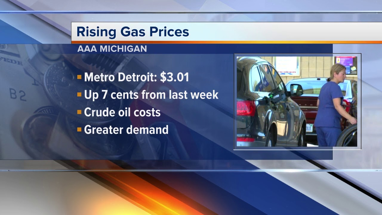 Detroit Gas Prices >> Metro Detroit Gas Prices On The Rise Again 60 Cents Higher Than