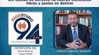 Sin estado de derecho no habrán elecciones libres y justas en Bolivia. Carlos Sánchez Berzaín