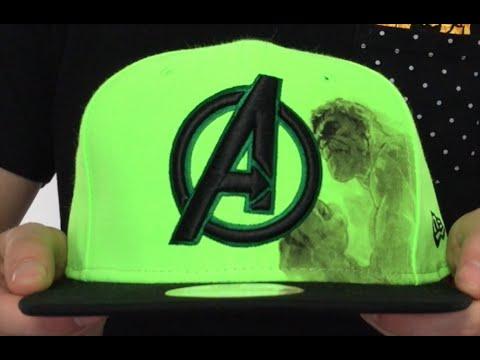 8923b0bb1 Avengers 'HULK POP SNAPBACK' Lime-Black Hat by New Era