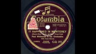 "Paul Whiteman & His Orchestra - ""It Happened in Monterey"" & ""Ragamuffin Romeo"""