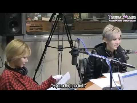 [TMVF][Vietsub+Eng] 131108 Hyunseung talk about dating with HyunA @ Boom's Radio