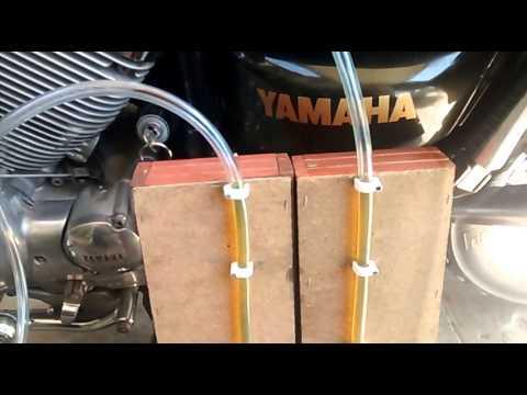 Sincronización de doble carburador Yamaha virago