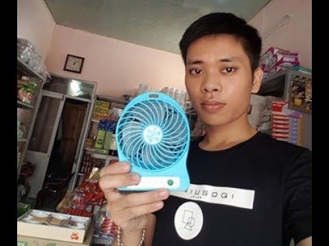 Quạt Mini Sạc Điện Giá Chỉ 50k