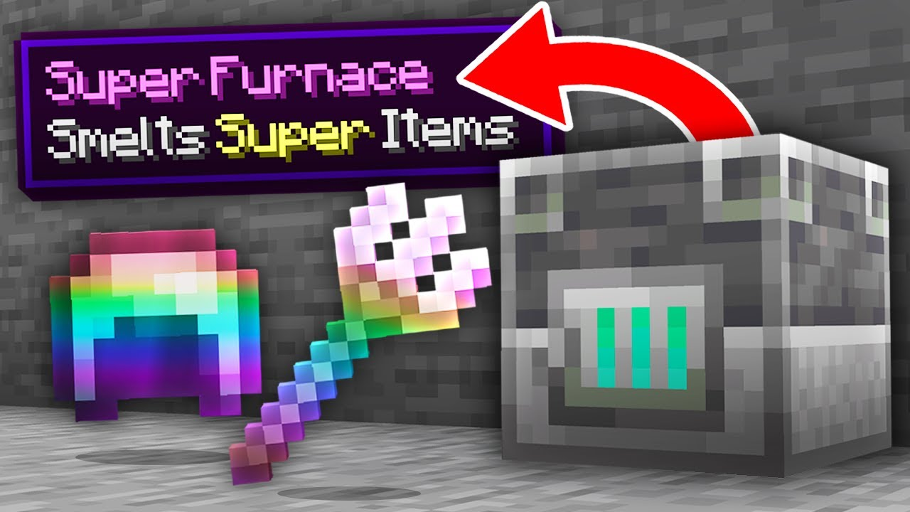 Download Minecraft, But Smelting Gives OP Items...