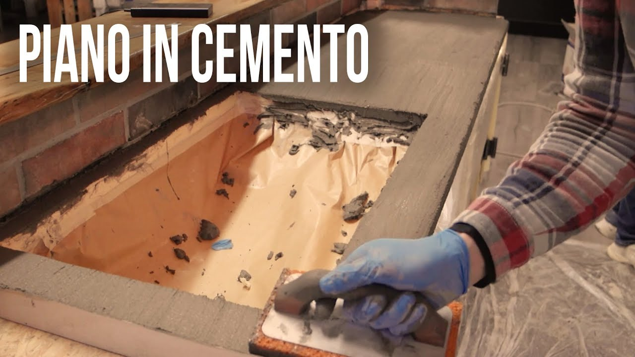 Top Cucina In Resina piano in cemento diy concrete countertop (cheepest way) | knob house project