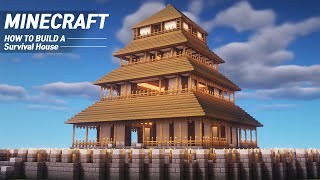 Minecraft : Large Survival Base Tutorial|How to Build in Minecraft (#61)