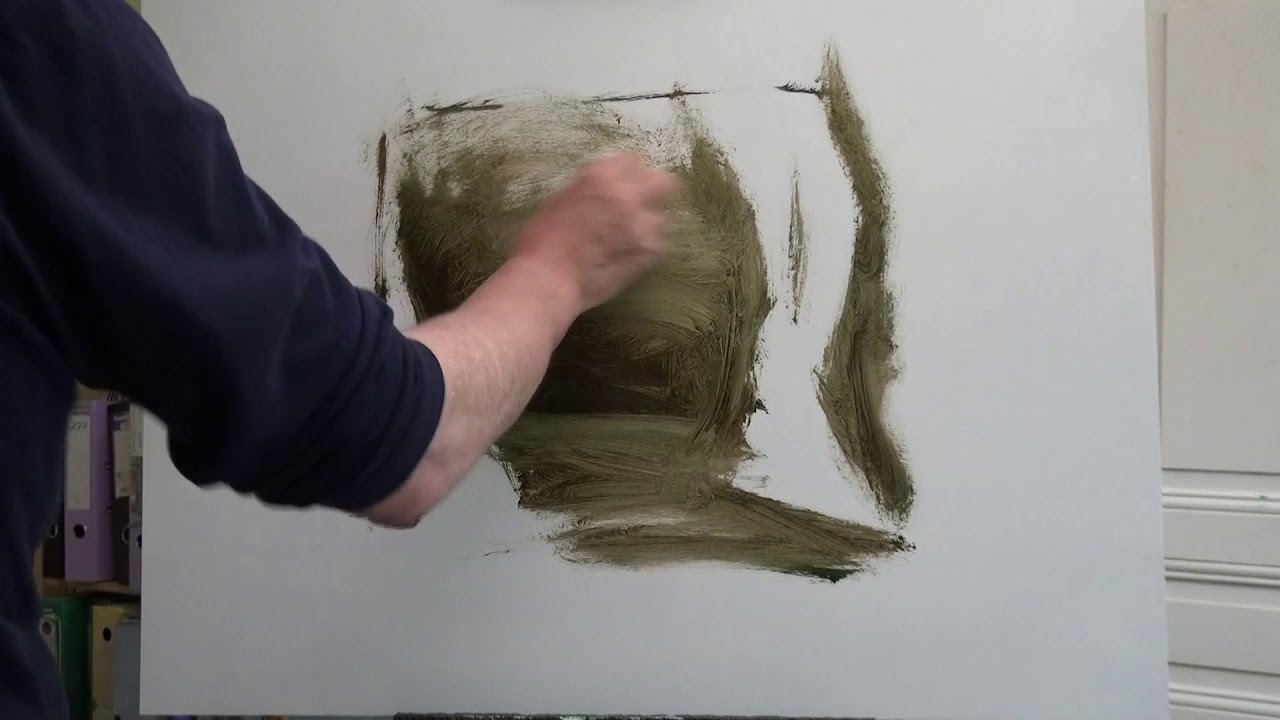 A Few Basics - How To Start An Oil Landscape Painting